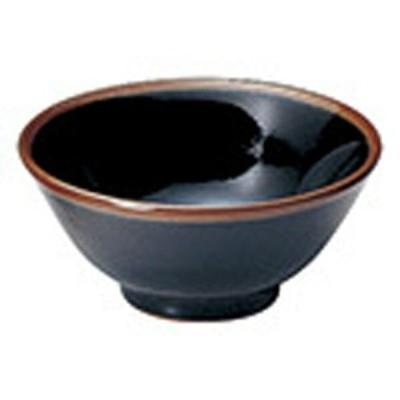 カネスズ 中華食器シリーズ うるし天目3.6スープ碗