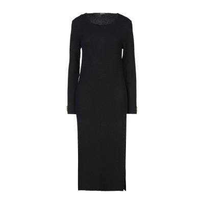 CRISTINAEFFE 7分丈ワンピース・ドレス ブラック 42 アクリル 59% / コットン 16% / ウール 13% / レーヨン 10%