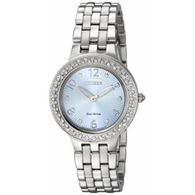 腕時計 シチズン 逆輸入 Citizen Women's 'Eco-Drive' Quartz Stainless Steel Casual Watch, Color:Silver