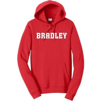 ユニセックス スポーツリーグ アメリカ大学スポーツ J2 Sport Bradley Braves NCAA Block Unisex Red Hooded Sweatshirt Tシャツ