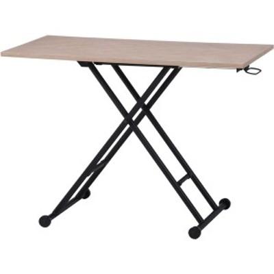 昇降テーブル ホワイト 幅100×奥行55×高さ12~70cm 〔送料無料〕