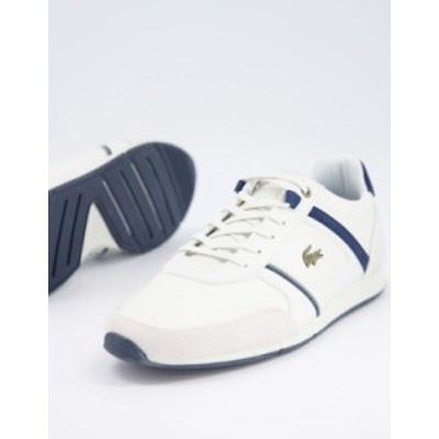 ラコステ メンズ スニーカー シューズ Lacoste Menerva running sneakers in white White