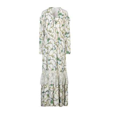 リュー ジョー LIU •JO ロングワンピース&ドレス アイボリー 42 ポリエステル 100% / ナイロン ロングワンピース&ドレス