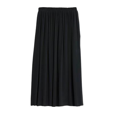 POMANDÈRE 7分丈スカート ブラック 40 レーヨン 100% 7分丈スカート