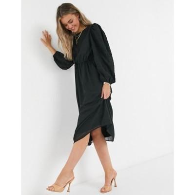 ワイエーエス レディース ワンピース トップス Y.A.S.. Olivia ruched waist midi dress in black