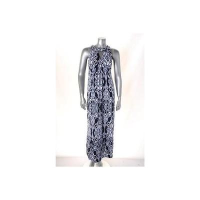 インク ドレス ワンピース フォーマル INC ネイビー マルチ プリント Maxi Halter ドレス サイズ XS MSRP 99 LAFO