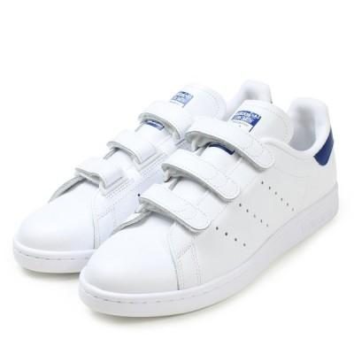 adidas【アディダス】 Stan Smith CF レディース&メンズ スタンスミス ベルクロ コンフォート  【S80042】 ホワイト/ブルー