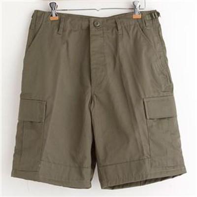 アメリカ軍 BDU カーゴショートパンツ/迷彩服パンツ 【XLサイズ】 リップストップ オリーブ 【レプリカ】