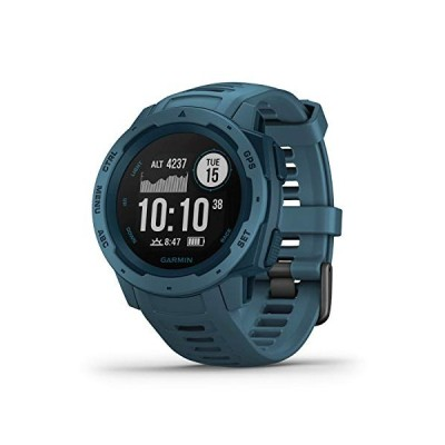 Garmin Instinct, Rugged Outdoor Watch with GPS, Features GLONASS and Galileo, Heart Rate Monitoring and 3-Axis Compass, Lakeside Blue 並行輸入品