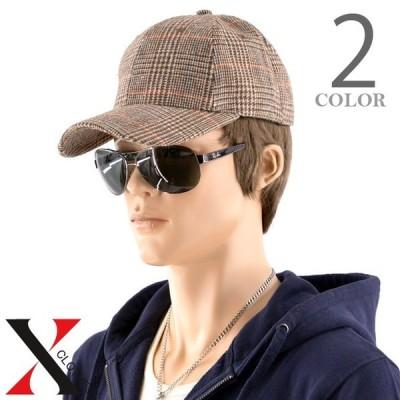 無地 グレンチェック チェック柄 LOWCAP キャップ ベースボールキャップ メンズ 帽子 CAP ローキャップ