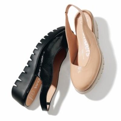 バッグ 靴 アクセサリー パンプス サンダル wonders/ワンダース 厚底 バックストラップ サンダル(スペイン製) 258406