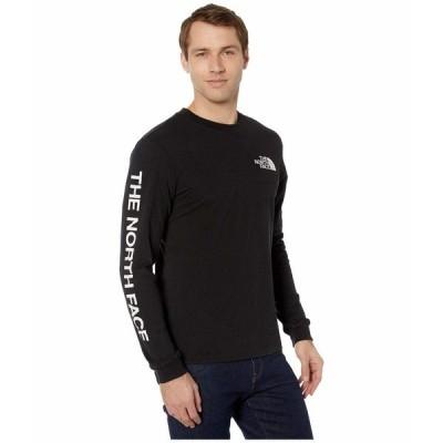 ノースフェイス シャツ トップス メンズ Long Sleeve TNF Sleeve Hit T-Shirt TNF Black