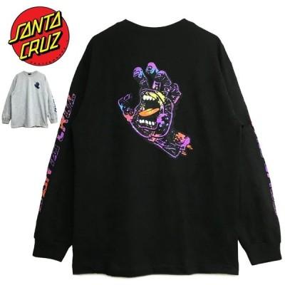 サンタクルーズ ロンT メンズ レディース SANTA CRUZ Tシャツ ゆうパケット送料無料 L/S 長袖 HAND SPLATTER スプラッター スクリーミングハンド トップス