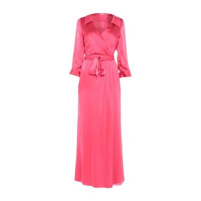 アリス・アンド・オリビア ALICE + OLIVIA ロングワンピース&ドレス フューシャ 2 シルク 91% / ポリウレタン 9% ロングワン