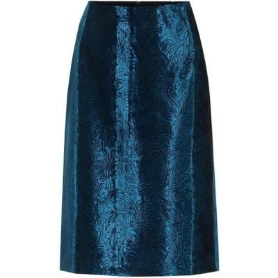 ドリス ヴァン ノッテン Dries Van Noten レディース ひざ丈スカート ペンシルスカート スカート velvet jacquard pencil skirt Blue