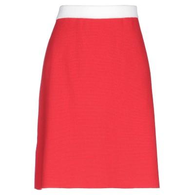 マルニ MARNI ひざ丈スカート レッド 46 アセテート 55% / ウール 40% / カシミヤ 5% ひざ丈スカート