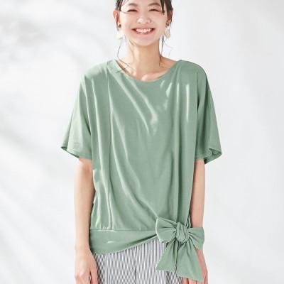 ヴィオラ エ ヴィオラ Viola e Viola 【5つの機能付】裾リボンデザインゆるTシャツ (ミント)