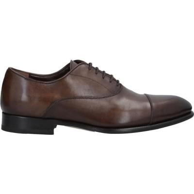 クオイエリア CUOIERIA メンズ 革靴・ビジネスシューズ シューズ・靴 Laced Shoes Dark brown