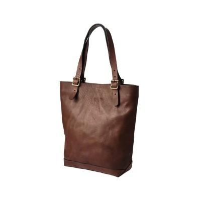 【カバンのセレクション】 ヴァスコ トートバッグ メンズ 本革 日本製 縦型 縦長 A4 ブランド バスコ VASCO VS-266L ユニセックス ブラウン フリー Bag&Luggage SELECTION