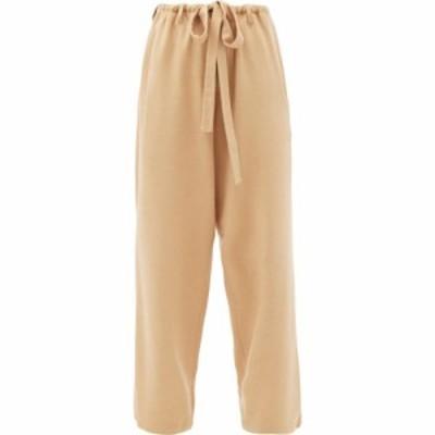 ウミット ベナン ビープラス Umit Benan B+ レディース ボトムス・パンツ Drawstring silk and cashmere-blend drill trousers Beige