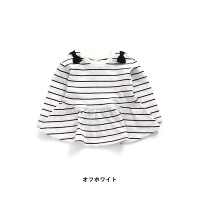 【apres les cours アプレ レ クール】ぺプラムボーダーTシャツ (Tシャツ・カットソー)Kids' T-shirts