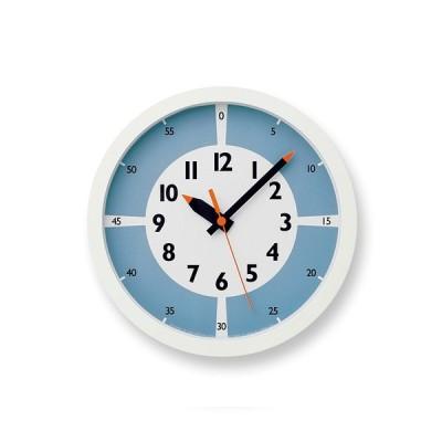 レムノス Lemnos fun pun clock with color! ライトブルー YD15-01 LBL 掛け時計 YD15-01LBL 日本