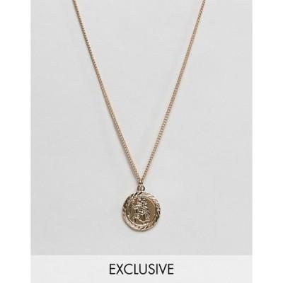 リクレイム ヴィンテージ メンズ ネックレス・チョーカー アクセサリー Reclaimed Vintage inspired St Christopher necklace in gold exclusive at ASOS