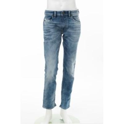 ディーゼル DIESEL ジーンズパンツ デニム ダメージデニム クラッシュデニム THOMMER-T Sweat jeans ブルー メンズ (00SE3D 087AK) 送料