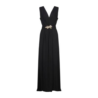 CASTING ロングワンピース&ドレス ブラック 38 ポリエステル 100% ロングワンピース&ドレス