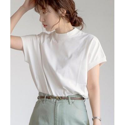 (coen/コーエン)【WEB限定カラー】リピT・UVカット/吸水速乾/接触冷感ハイネックTシャツ#/レディース WHITE