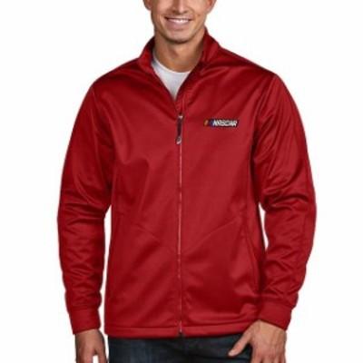 Antigua アンティグア スポーツ用品  Antigua NASCAR Red Golf Full-Zip Jacket