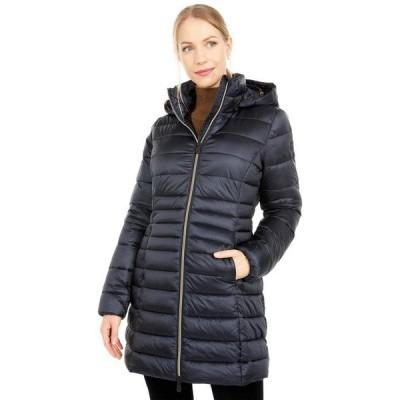 セイブ ザ ダック レディース コート アウター Iris Shiny Iridescent Puffer Coat with Removable Hood