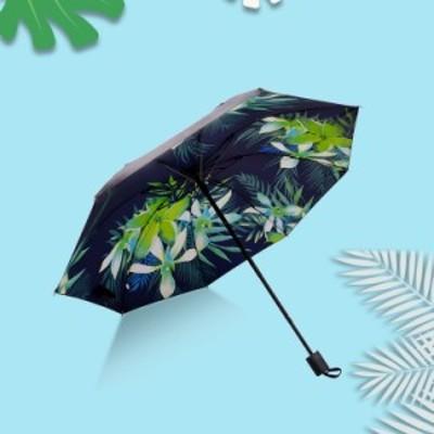 日傘 三つ折りたたみ 完全遮光 UVカット 雨傘 男女兼用 手動開閉 晴雨兼用傘 紫外線対策 遮熱 コンパクト 軽量 携帯用