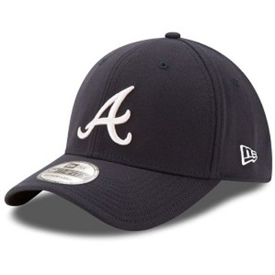 ニューエラ メンズ 帽子 アクセサリー New Era Atlanta Braves MLB Team Classic 39THIRTY Flex Hat Navy