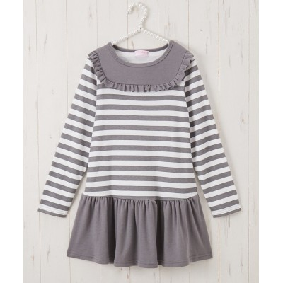 ボーダー裾切替カットソーワンピース(女の子 子供服。ジュニア服) ワンピース, Kids' Dress