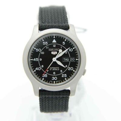 セイコー 腕時計 Seiko 5 SNK809K2 Automatic Black Nylon Strap Analog ユニセックス Watch