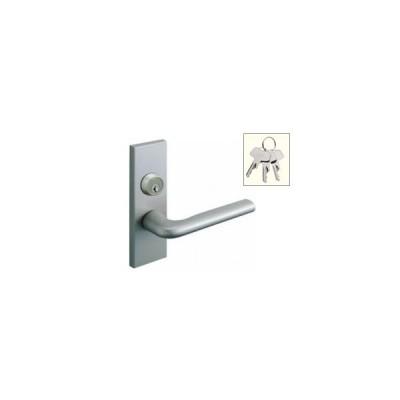 送料無料 WOODONE ウッドワン レバーハンドルセット鍵付き錠 R型(シルバー) ZH11R4-7 (品番変更 ZH11R4-F)