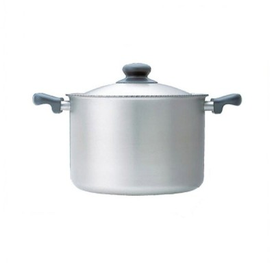 柳宗理 IHシリーズ 両手鍋 深型 22cm 6.0L つや消し(ALY6401)7-0065-0901 キッチン、台所用品