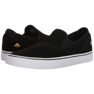 エメリカ Emerica メンズ スリッポン・フラット シューズ・靴 Wino G6 Slip-On Black/White/Gold