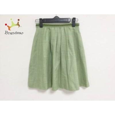 アプワイザーリッシェ スカート サイズ0 XS レディース ライトグリーン×グリーン             スペシャル特価 20191029