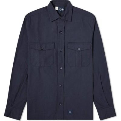 ブルー ドゥ パナム Bleu de Paname メンズ シャツ トップス 2 Pocket Ripstop Shirt Navy