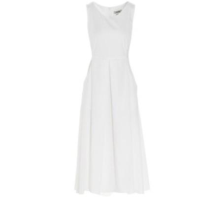 MAX MARA/マックス マーラ White Pisa' dress レディース 春夏2021 9221191260010195001 ju