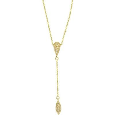 1/8Ct Diamond Teardrop N Marq Lariat Adjustable Necklace