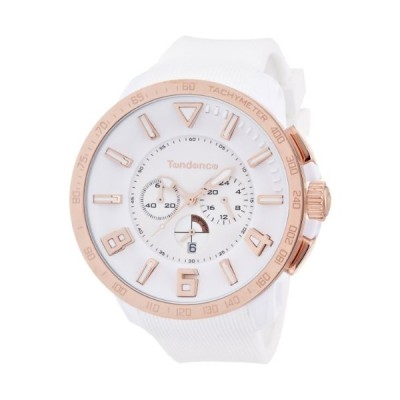 Tendence Gulliver Sport Unisex Quartz Watch with White Dial Analogue Display and White Plastic or PU Strap TT560002 並行輸入品