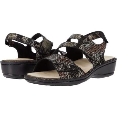 アラヴォン Aravon レディース サンダル・ミュール シューズ・靴 Cambridge Three Strap Black Snake Multi