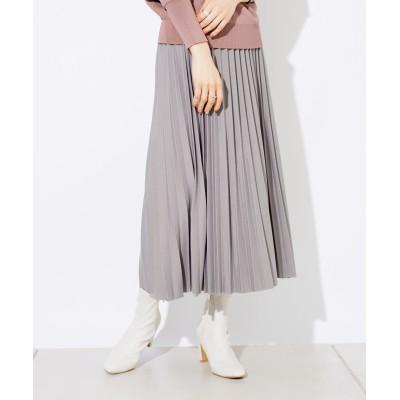 【ウエストゴム仕様】グリッタープリーツスカート