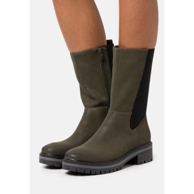 アンナフィールド ブーツ&レインブーツ レディース シューズ Platform boots - dark green