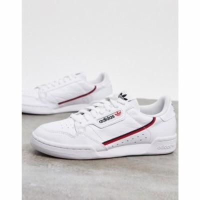 アディダス adidas Originals レディース スニーカー シューズ・靴 Continental 80 trainers in white and red レッド