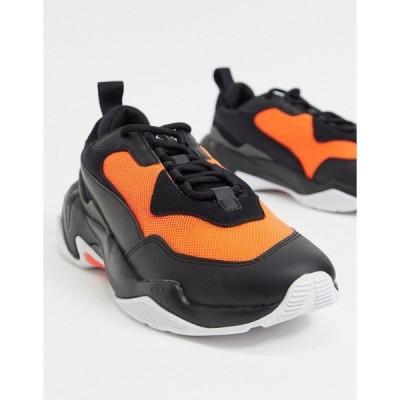 プーマ メンズ スニーカー シューズ Puma Thunder 2.0 sneakers in black and red Puma black-nrgy red