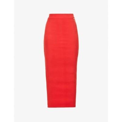 オー ドールズ コレクション ODOLLS COLLECTION レディース ロング・マキシ丈スカート スカート Ribbed high-waist stretch-cotton maxi skirt RED